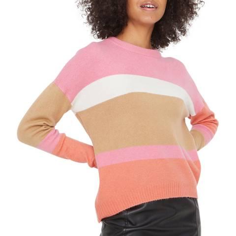 Oliver Bonas Pink Colour Block Stripe Jumper