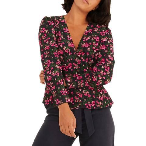 Oliver Bonas Pink Ditsy Floral Shirt