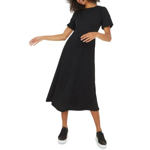 Oliver Bonas Black Sparkle Midi Dress
