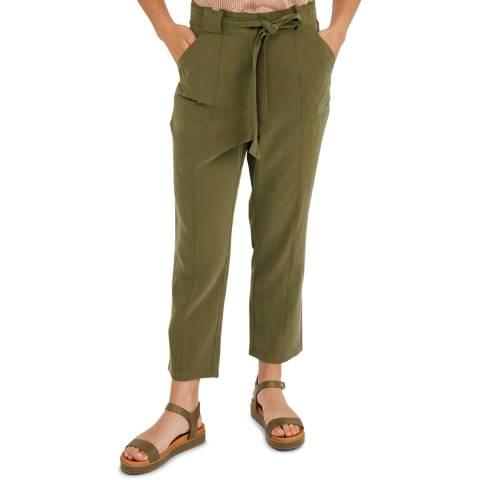 Oliver Bonas Khaki Utility Trousers