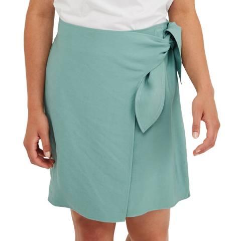 Oliver Bonas Green Wrap Mini Skirt