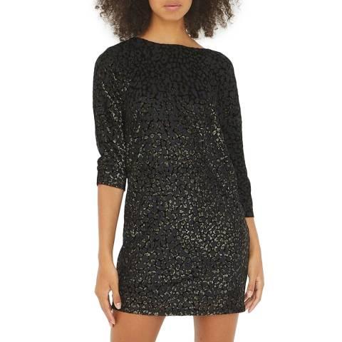 Oliver Bonas Black Animal Burnout Jersey Dress