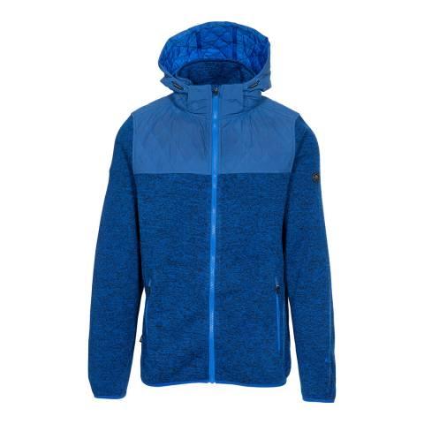 Trespass Blue Marl Fairleystead Hooded Fleece Jacket