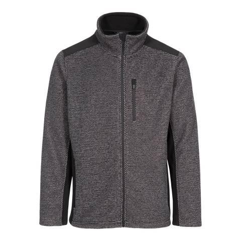 Trespass Dark Grey Stripe Faratino Fleece Top