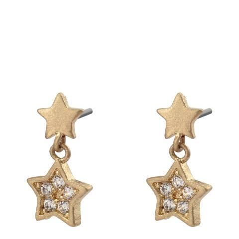 Oliver Bonas Gold Lainey Mini Star Charm Earrings