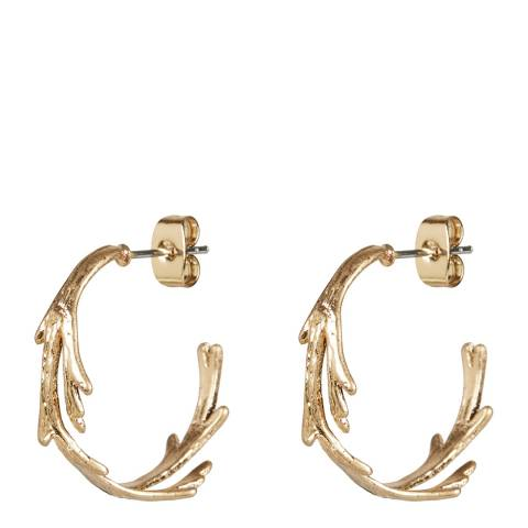 Oliver Bonas Gold Acer Branch Twist Hoop Earrings