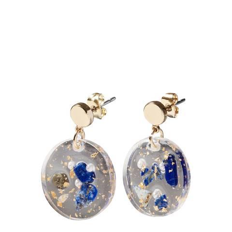 Oliver Bonas Multi Bessy Resin Drop Earrings