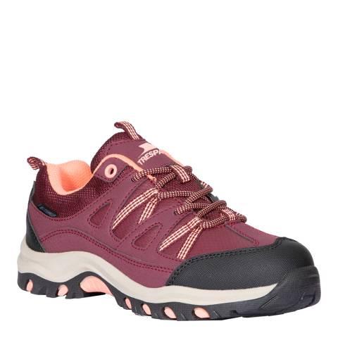 Trespass Kid's Burgundy Gillon Low Cut II Walking Shoe