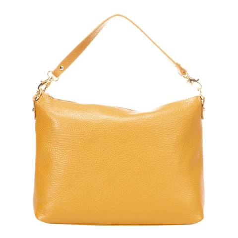 Giorgio Costa Yellow Leather Top Handle Bag