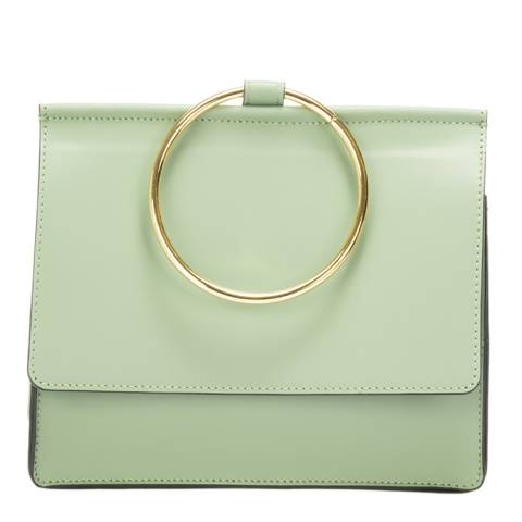 Giorgio Costa Mint Leather Top Handle Bag