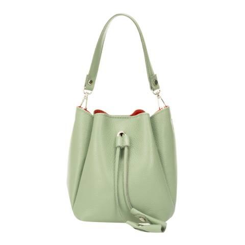 Giorgio Costa Mint Leather Bucket Bag