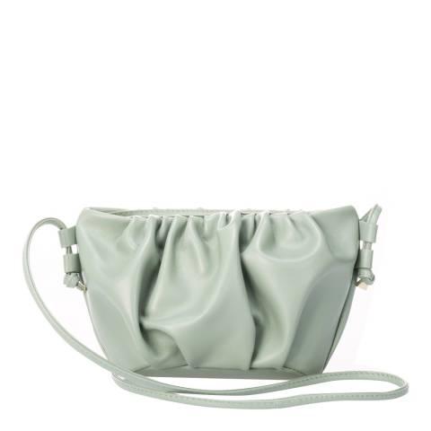 Giulia Massari Mint Leather Crossbody Bag
