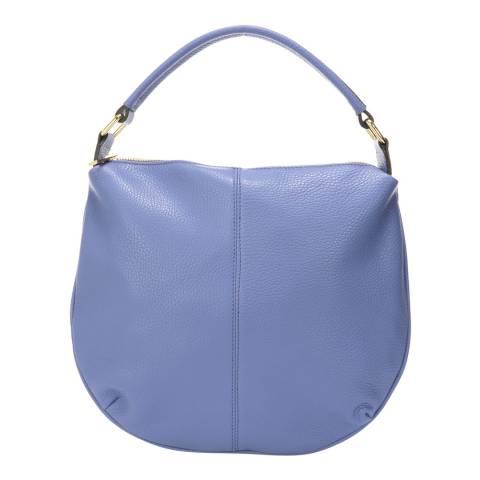 Giulia Massari Light Blue Leather Top Handle Bag