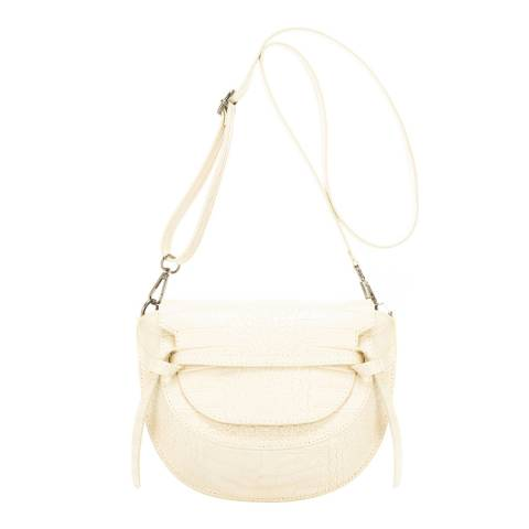 Giulia Massari Beige Leather Crossbody Bag