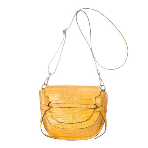 Giulia Massari Yellow Leather Crossbody Bag