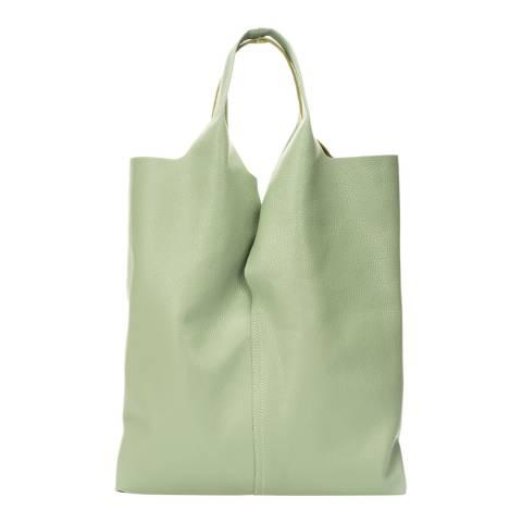 Giulia Massari Mint Leather Top Handle Bag