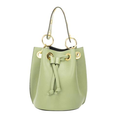 Markese Mint Leather Bucket Bag