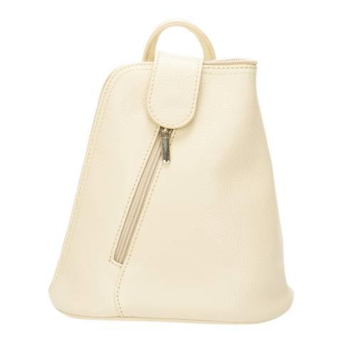 SCUI Studios Beige Leather Crossbody Bag