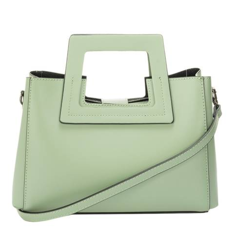 SCUI Studios Mint Leather Top Handle Bag