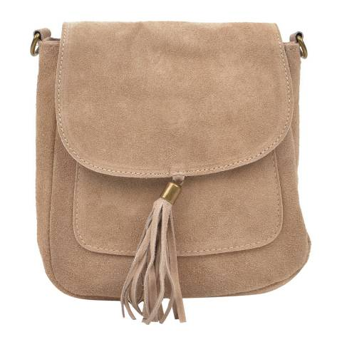 Anna Luchini Beige Leather Crossbody Bag