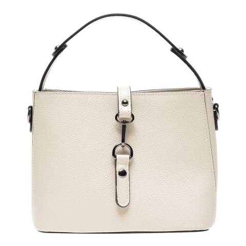 Anna Luchini Beige Leather Top Handle Bag