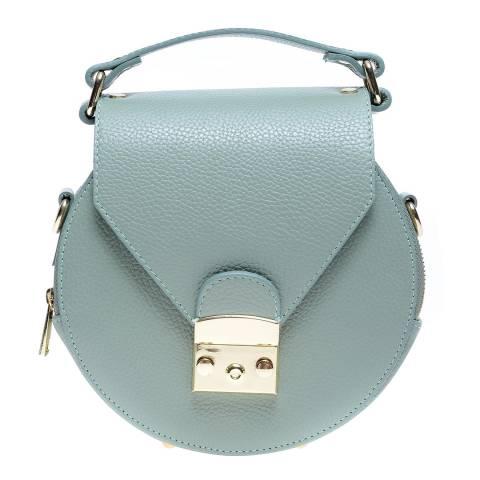 Roberta M Green Leather Top Handle Bag