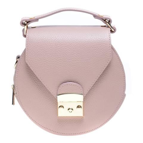 Roberta M Pink Leather Top Handle Bag