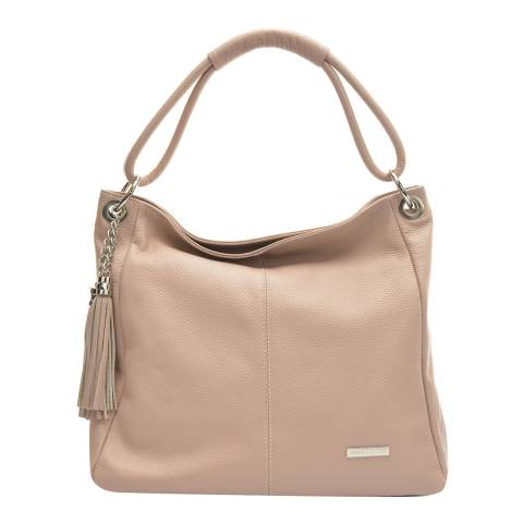 Anna Luchini Pink Leather Shoulder Bag