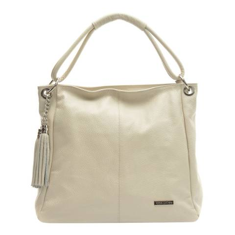 Anna Luchini Beige Leather Shoulder Bag