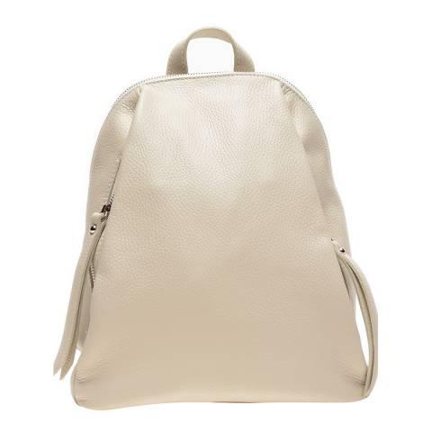 Anna Luchini Beige Leather Backpack