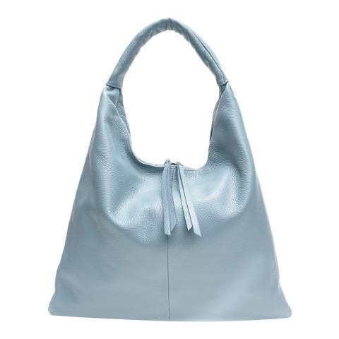 Mangotti Blue Leather Shoulder Bag