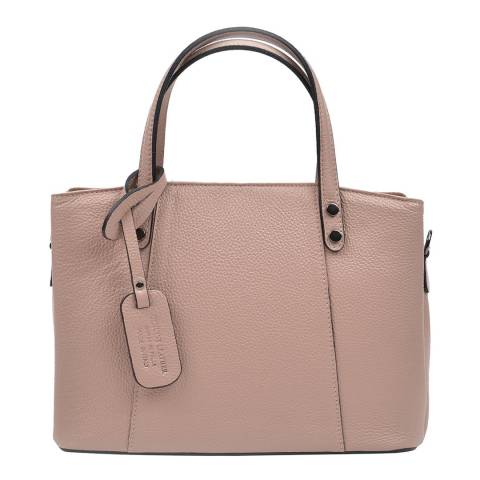 Anna Luchini Pink Leather Top Handle Bag