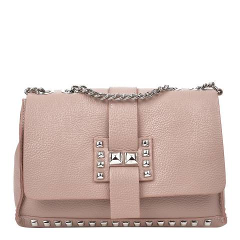 Roberta M Pink Leather Shoulder/Crossbody Bag