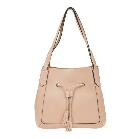 Roberta M Pink Leather Shoulder Bag