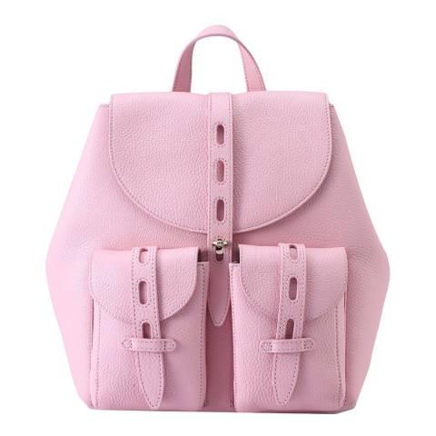 Furla Light Pink Net Small Backpack