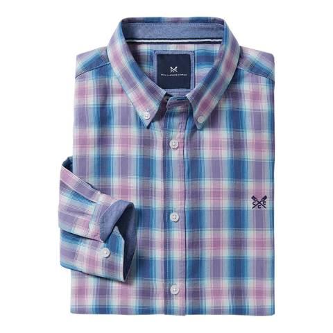 Crew Clothing Slim Ombre Check Cotton Shirt