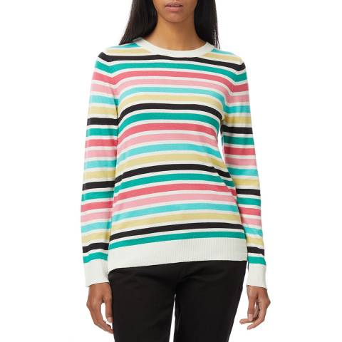 Crew Clothing Rainbow Stripe Jumper