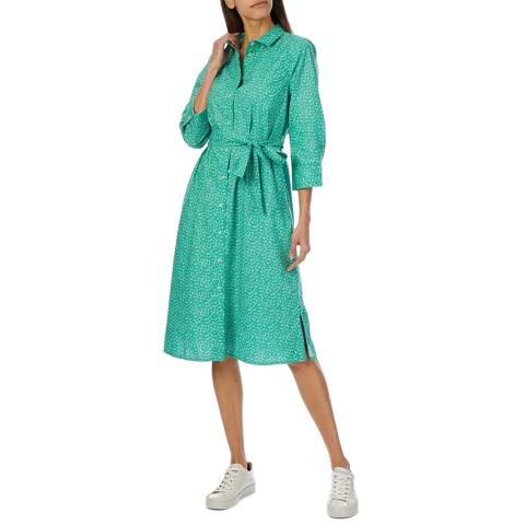 Crew Clothing Green Cotton Shirt Dress