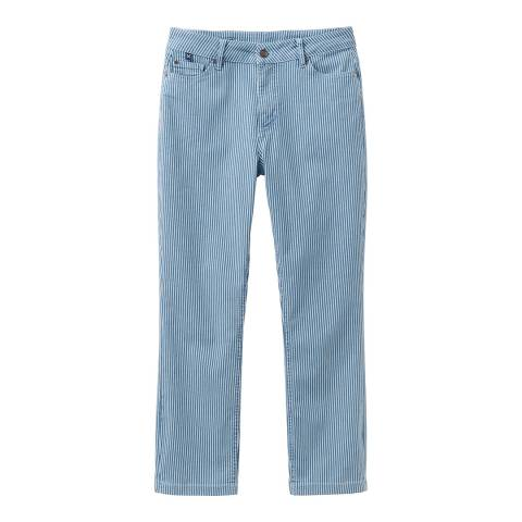 Crew Clothing White Cropped Stretch Jean