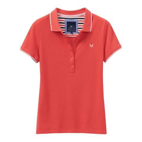 Crew Clothing Orange Classic Cotton Polo Shirt