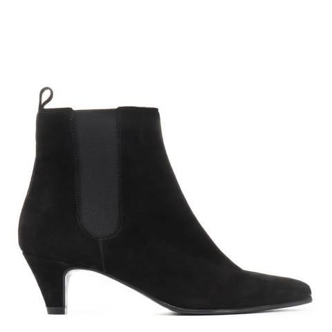 JONES BOOTMAKER Black Suede Smart Ankle Boots