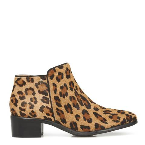 JONES BOOTMAKER Leopard Smart Ankle Boots