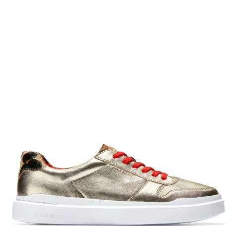 Cole Haan Gold/White Grandpro Rally Sneaker