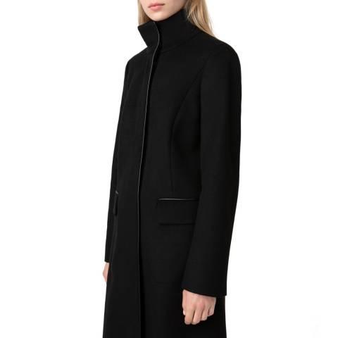HUGO Black Mirani Wool/Cashmere Blend Coat
