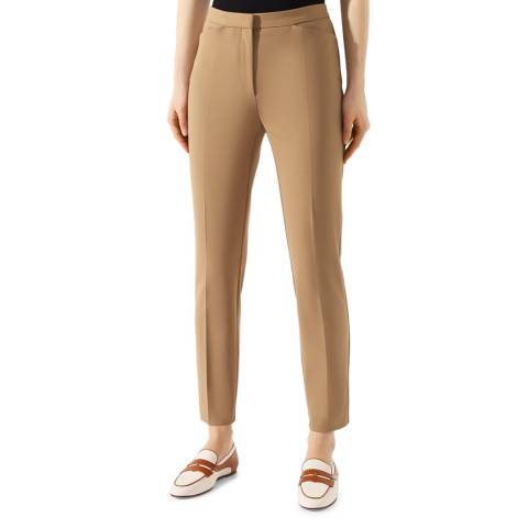 BOSS Camel Tanito Stretch Trousers