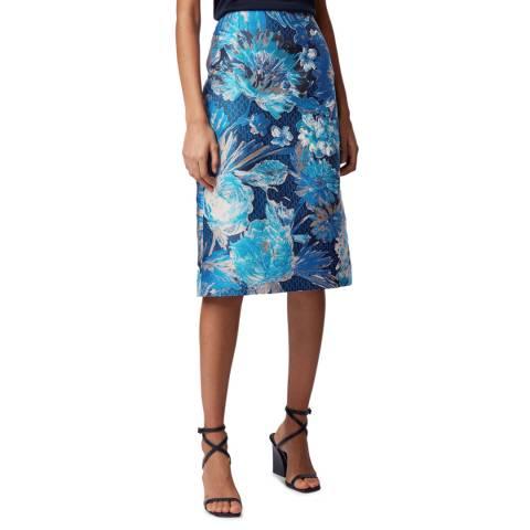BOSS Blue Floral Vabasa Skirt