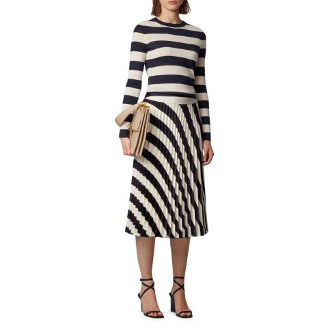 BOSS Navy Stripe Fecilia Wool Jumper