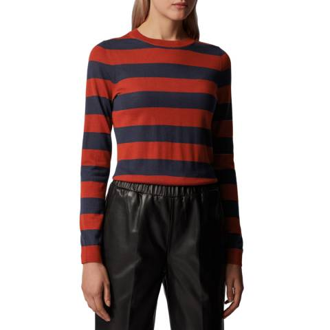 BOSS Red Stripe Fecilia Wool Jumper
