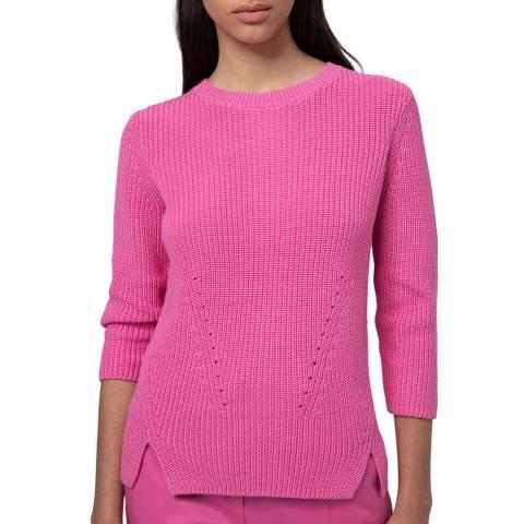 HUGO Pink Serlina Textured Jumper