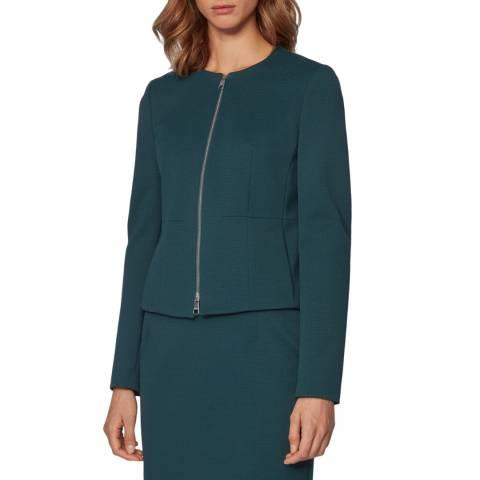 BOSS Dark Green Jaxine Stretch Suit Jacket